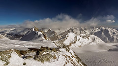 from Allalin  _AO1B1779 (Ercan Akkaya) Tags: mountain snow alps montagne landscape schweiz switzerland alpen wallis landschaften saasfee allalin