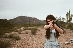 From This Valley (Matthew Willcocks) Tags: arizona film girl 35mm nikon gun desert pentax k1000 kodak f100 editorial nofilter