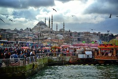 Istanbul (semensamsonov) Tags: turkey istanbul mosque embankment fatih galatabridge rüstempaşa bosfor
