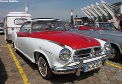 Isabella Coup (The Rubberbandman) Tags: white classic beauty car sedan vintage silver germany nice parkinglot classiccar bright parking lot german dome lloyd vehicle oldtimer isabella bremen saloon coupe coup borgward beautysaloon oldvintage carnice nicebeauty