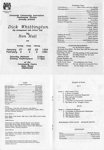 1994 Dick Whittington 00 Programme