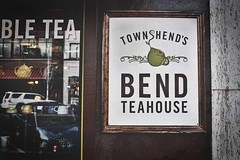 Townshends (greghanover) Tags: street sign oregon downtown bend teahouse