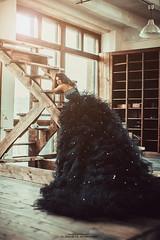 dark light (BbzzzZa) Tags: black girl dark dress portret   longdress