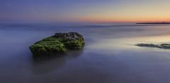 green approach (pablobartrina) Tags: sunset sky water atardecer playa p tarde roca rocas ocano rockswater