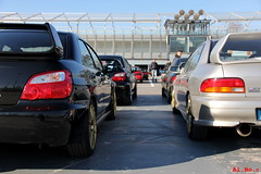 . (Al. Bo.) Tags: auto new old cars car japan gold track racing subaru impreza wrx sti autodromo paddock trackday monza newold