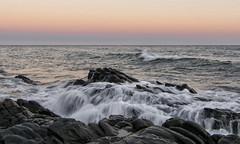 Sedas al atardecer 3_r (jamp_foto) Tags: playa mar atardecer seda mer rock beach sunset sea silk lines mlaga nerja axarqua jampfoto espaa spain water nature light agua olas costa waves coast roca