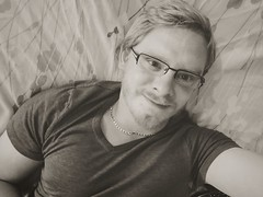 Hi (Jasrmcf) Tags: selfie people blonde glasses beard male guy handsome fit gym muscle bed single