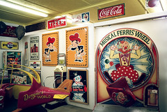 Musical Ferris Wheel (Georgie_grrl) Tags: camping friends signs ontario vintage airplane photography snowman ride clown coke social pentaxk1000 pepsi cocacola lakehuron outing tizer pinballmachine scotsmen thepineryprovincialpark rikenon12828mm musicalferriswheel 4thannualtopwcampingtrip pineryantiquesmarket