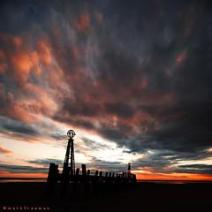 Drama (Mark-F) Tags: sunset jetty lytham stannes fylde beach pier lancashire sony dslr markymarkf mark markf sonya300 freeman markfreeman