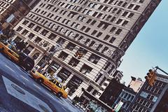 Angular Flatiron (DHaug) Tags: street nyc newyorkcity canon manhattan taxi broadway august midtown flatiron t1 2012 thebigapple flatirondistrict ef35mmf14lusm vsco 5dmkii