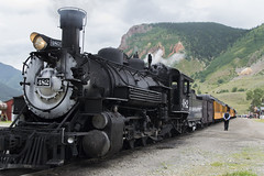 Last of the Steam Engines (aaronrhawkins) Tags: engine locomotive durangosilverton durango silverton railroad colorado steam tourist tourism oldwest mining silver conductor train cars mountain trip cargo aaronhawkins
