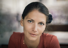 The girl form the east (Pavel Valchev) Tags: bulgaria sofia vrazdeba charming lady eyes close portrait portraiture sony nex a6000 ilce emount mf peaking lens bokeh dof 50mm 14