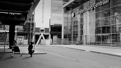 Too.... late. (jaap spiering | photographer) Tags: street people blackandwhite bw woman holland netherlands monochrome women noiretblanc zwartwit femme streetphotography denhaag mens centraalstation thehague vrouw femmes vrouwen mensen 070 denhaagcs jaapspiering jaapspieringphotographer jaapspieringfotografie