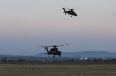Italian Blade Corne Goud A-129C EI952 MM81422 & EI956 MM81426 (Goldenflyer) Tags: italian blade corne goud a129c ei952 mm81422 ei956 mm81426 viterbo army goldenflyer helicopter combast helikopter gunship eavening flying departure platform sunset italiandefence defence mangusta a129