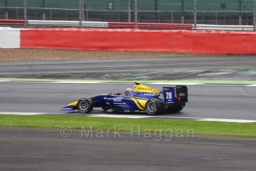 Kevin Jörg in the DAMS car in the GP3 Race at the 2016 British Grand Prix