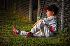 Little league (WeGseB) Tags: sun field canon ball kid baseball flare alienbees pocketwizard