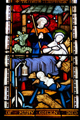 March, St Wendreda's (beery) Tags: march cambridgeshire england church stwendreda glass window stainedglass nativity mary joseph holyfamily