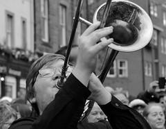 Mardi Gras (Edinburgh Photography) Tags: people musician white black monochrome nikon photojournalism documentary trumpet jazz gras mardi d7000