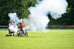 Cavaliers vs Roundheads in Otley (yorxbrox) Tags: civilwar cavalier otley roundhead