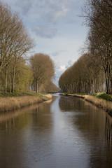 Depth (paul indigo) Tags: travel bridge trees colour reflection reeds landscape canal belgium damme paulindigo