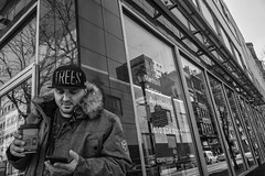 Market East, 2016 (Alan Barr) Tags: street people blackandwhite bw philadelphia monochrome mono blackwhite centercity candid streetphotography sp streetphoto gr marketstreet ricoh marketeast 2016 marketstreeteast
