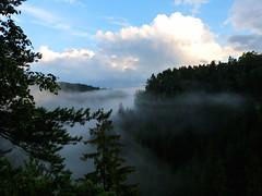 Polenztal nach dem Gewitter (isajachevalier) Tags: nebel natur sachsen landschaft schsischeschweiz elbsandsteingebirge polenztal panasonicdmcfz150