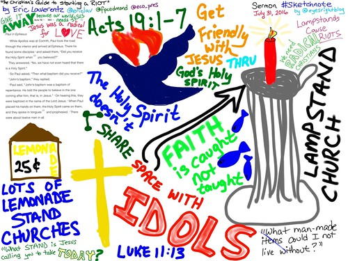 Sermon Sketchnote Acts 19:1-7 by Wesley Fryer, on Flickr