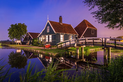 474 seconds of tranquility (PhotoSolutions | pure photography) Tags: lights night longexposure colorful nikon nohdr d800 zaanseschans farmhouse le colors farm lowlight zaandam netherlands light