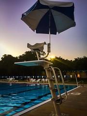 (photo.po) Tags: umbre umbrella phonephoto iphonephotography iphone6 iphone solitude evening availablelight sunflares peaceful sunset lifegaurdchair