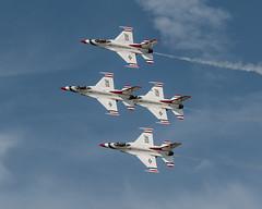Precision... (ragtops2000) Tags: thunderbirds airforce airshow precision flight fast loud military offuttairshow nebraska eastern summer flightline colorful f16