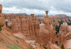 Bryce Canyon Pano (jametalb) Tags: thesisters utah landscape nature panoramic brycecanyon sky overcast landscapes thorshammer panorama hdr