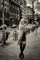 short moment (juergenberlin) Tags: girl blond lon hair beautiful woman street streetfashion