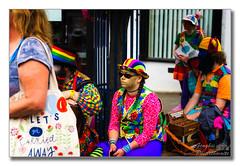 Let's get carried away (Descended from Ding the Devil) Tags: dof england sonya7mkii sonyalphadslr warwick beyondbokeh bokeh bowler candid depthoffield fullframe hat mirrorless outdoor photoborder pigtails selectivefocus streetscene sunglasses woman marketplace waistcoat accordian morrisdancers folkfestival