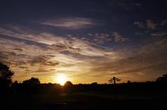 When morning gilds the skies (Sundornvic) Tags: sunrise sundorne shrewsbury light sun shine morning clouds colour space sky blue slides playground