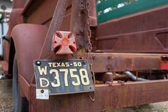 Rusty Truck (Iggy & StarCat) Tags: cars closeup oakforest outdoor red sign texas truck x100 rusty cross