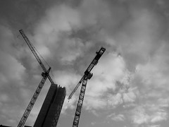 AT-AT walkers (vfrgk) Tags: cranes constructionarea building lookup sky moody cloudy urbanfragment urbanlife urbanart urbanphotography streetscene monochrome blackandwhite bw abstract city architecture minimalism starwars atatwalkers