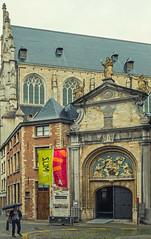 A Back Street Church - Antwerp  (Panasonic Lumix GM5 & Panasonic  12-32mm Pancake Zoom) (markdbaynham) Tags: panasonic lumix lumixer gm gm5 csc mirrorless evil mft microfourthirds m43 m43rd micro43 panny antwerp antwerpen belgium church 1232mm pancake zoom