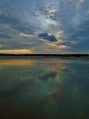A reflective colourful Sunset (Richard Bougeard) Tags: jersey weather