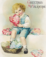 """ELLEN CLAPSADDLE CUTE VALENTINE KID WITH FLOWERS Thou are all the world to me - LOVE IS IN THE AIR International Art Card Series Card 3041 (UpNorth Memories - Donald (Don) Harrison) Tags: vintage antique postcard rppc """"don harrison"""" """"upnorth memories"""" upnorth memories upnorthmemories michigan history heritage travel tourism """"michigan roadside restaurants cafes motels hotels """"tourist stops"""" """"travel trailer parks"""" campgrounds cottages cabins """"roadside entertainment"""" """"natural wonders"""" attractions usa puremichigan"""