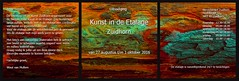 20160816 WoutvanMullem Drieluik Etalage Uitnodiging (Wout van Mullem) Tags: kunst de etalage zuidhorn wout van mullem kleurrijk boomschors roest rust drieluik tryptich triptiek