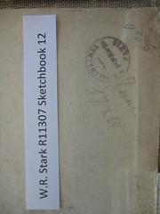 William Redver Stark's Sketchbooks: 1.12 ink stamp / Les carnets de croquis de William Redver Stark : 1.12 cachet à l'encre (BiblioArchives / LibraryArchives) Tags: canada art conservation lac sketchbooks preservation bac libraryandarchivescanada bibliothèqueetarchivescanada preservationcentre préservation carnetsdecroquis centredepréservation williamredverstark