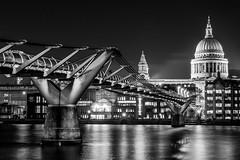London   |   Millennium Bridge Mono (JB_1984) Tags: millenniumfootbridge bridge river thames riverthames stpauls stpaulscathedral cathedral hdr highdynamicrange mono blackandwhite bw bankside southwark londonboroughofsouthwark london england uk unitedkingdom nikon d7100 nikond7100