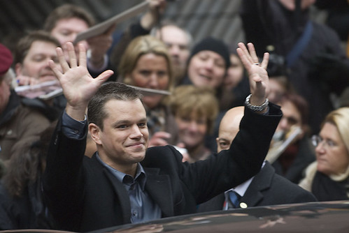 Matt Damon Waving by theglobalpanorama, on Flickr