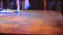 En el tablao (Mariano Prez) Tags: espaa mujer tacos restaurante sensual zapatos baile flamenco celeste tablao