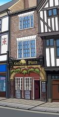 Golden Fleece Inn, York (Laura's Aura) Tags: york art sketch pub inn drawing yorkshire haunted tavern vector