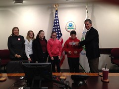 EPA Regional administrator Shaun Garvin with Cook Wissahickon Middle School--today