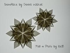 Snowflake  design by Dennis Walker (esli24) Tags: snowflake christmas weihnachten star origami stern papierfalten denniswalker esli24 ilsez