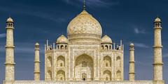 Taj Mahal (MitraTek) Tags: blue sky india monument taj mahal agra wonders flickrbronze