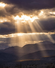 Rays (Bill Gracey) Tags: light sunset sky sunlight nature clouds landscape desert rays naturalbeauty sunrays beams lightrays godrays anzaborregodesertstatepark anzaborregodesert miraclelight buttspassroad