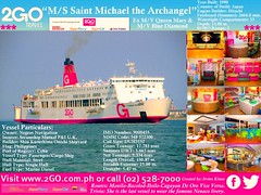M/S Saint Michael the Archangel Folio (Irvine Kinea) Tags: world pictures ocean voyage travel cruise blue sea west saint collage japan ferry bay harbor michael globe asia barco ship photos south mary philippines north transport picasa vessel cargo system queen diamond east special international journey sunflower manila sail trips passenger bacolod tours folio ferries archangel navigation accommodations iloilo cagayan nn negros ats ncr cdo barko amenities jebsen aboitiz 2go nenaco